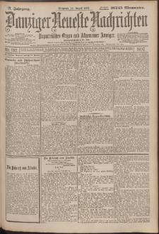 Danziger Neueste Nachrichten : unparteiisches Organ und allgemeiner Anzeiger192/1897