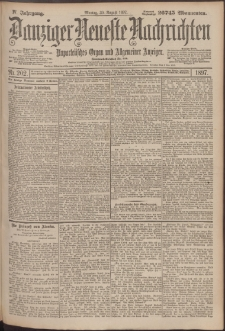 Danziger Neueste Nachrichten : unparteiisches Organ und allgemeiner Anzeiger202/1897