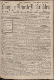 Danziger Neueste Nachrichten : unparteiisches Organ und allgemeiner Anzeiger206/1897