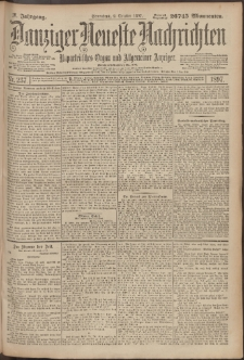 Danziger Neueste Nachrichten : unparteiisches Organ und allgemeiner Anzeiger 237/1897