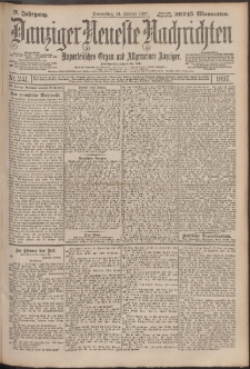 Danziger Neueste Nachrichten : unparteiisches Organ und allgemeiner Anzeiger 241/1897