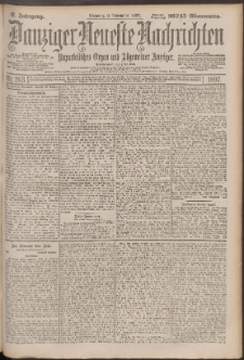 Danziger Neueste Nachrichten : unparteiisches Organ und allgemeiner Anzeiger 263/1897