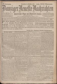 Danziger Neueste Nachrichten : unparteiisches Organ und allgemeiner Anzeiger 278/1897