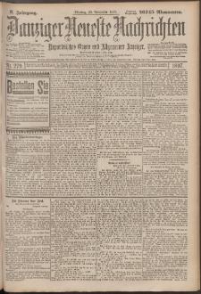 Danziger Neueste Nachrichten : unparteiisches Organ und allgemeiner Anzeiger 279/1897