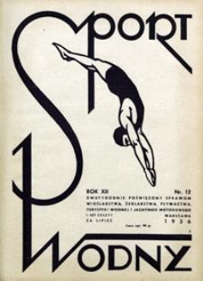 Sport Wodny, 1936, nr 12