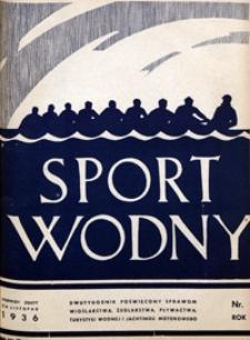 Sport Wodny, 1936, nr 20