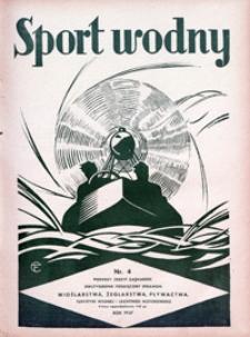 Sport Wodny, 1937, nr 4