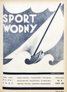 Sport Wodny, 1937, nr 9