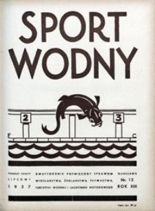 Sport Wodny, 1937, nr 12
