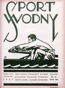 Sport Wodny, 1937, nr 14