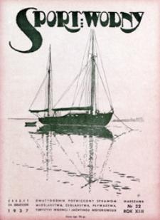 Sport Wodny, 1937, nr 22