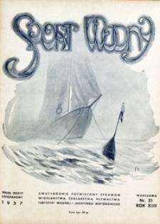 Sport Wodny, 1937, nr 21