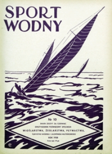 Sport Wodny, 1938, nr 10