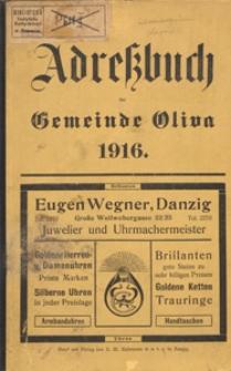 Adressbuch der Gemeinde Oliva : auf Grund amtlicher Quellen und privater Mitteilungen